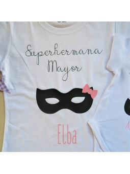camiseta y body hermana mayor y pequeña