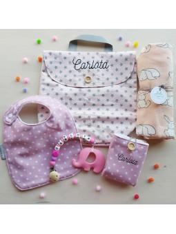 canastilla bebe con nombre
