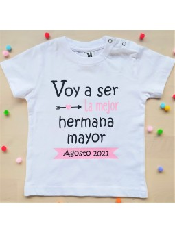 camiseta hermana mayor